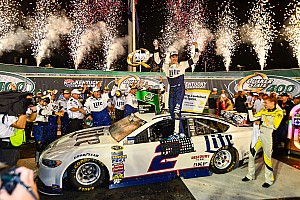 NASCAR Sprint Cup Race report Brad Keselowski saves just enough to win Kentucky thriller