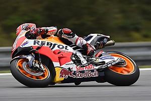 MotoGP Practice report Brno MotoGP: Marquez tops second practice after epic save