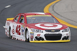 NASCAR Sprint Cup Practice report Kyle Larson tops first Cup practice; Dillon to a backup car