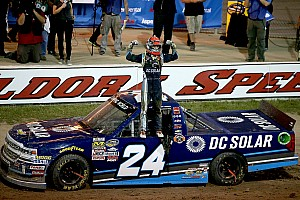 NASCAR Truck Race report Kyle Larson takes Truck win at Eldora