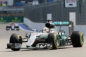 Russian GP: Hamilton tops FP2 as Vettel hits trouble