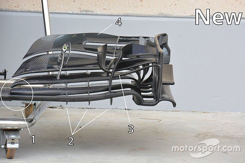 【F1メカ解説】マクラーレンMP4-31フロントウイング