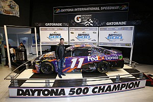 """NASCAR Sprint Cup Interview """"A total team win"""" for Hamlin and Toyota"""