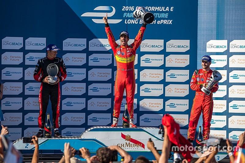 ディ・グラッシ逆転優勝。ブエミ自滅でランキング逆転:フォーミュラE第6戦ロングビーチePrix