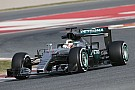Lewis Hamilton racks up the mileage in the new Mercedes-Benz F1 W07 Hybrid Silver Arrow