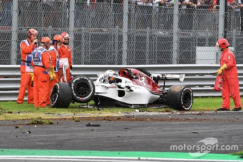 Formula 1, spettacolare incidente di Ericsson a Monza