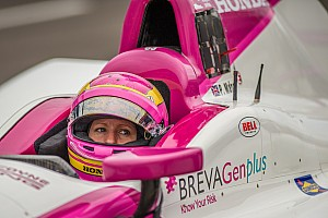 IndyCar Breaking news Pippa Mann crashes on Carb Day