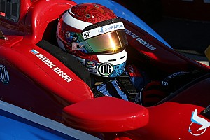 IndyCar Practice report Aleshin leads first practice as three cars crash