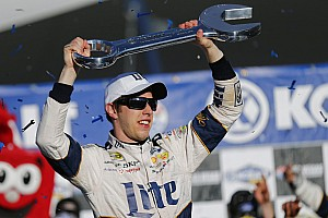 NASCAR Sprint Cup Race report Keselowski fights back from speeding penalty to win at Las Vegas