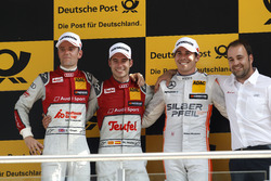 Podium: second place Jamie Green, Audi Sport Team Rosberg, Audi RS 5 DTM; Winner Miguel Molina, Audi Sport Team Abt Sportsline, Audi RS 5 DTM; third place Robert Wickens, Mercedes-AMG Team HWA, Mercedes-AMG C63 DTM; Thomas Biermaier, Audi Sport Team Abt