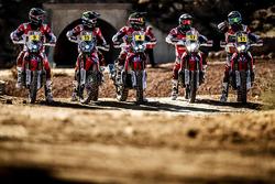 Michael Metge, Paulo Goncalves, Ricky Brabec, Kevin Benavides, Joan Barreda, Monster Energy Honda Team