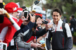Esteban Gutierrez, Haas F1 Team with fans