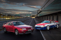 Australian GT Photos - 1991 Nissan GT-R road version and race version