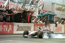 Checkerd flag for Mika Hakkinen, McLaren