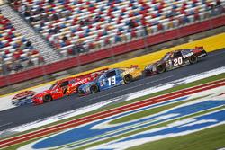 Justin Allgaier, JR Motorsports Chevrolet, Daniel Suarez, Joe Gibbs Racing Toyota, Erik Jones, Joe Gibbs Racing Toyota