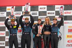 Sprint X GTS podium: winners #07 TRG-AMR Aston Martin GT4: Max Riddle, Kris Wilson, second place #09 TRG-AMR Aston Martin Vantage GT4: Derek DeBoer, Jason Alexandridis