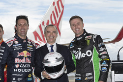 Jamie Whincup, Triple Eight Race Engineering Holden and Mark Winterbottom, Prodrive Racing Australia Ford with John Borghetti, Virgin Australia Group CEO