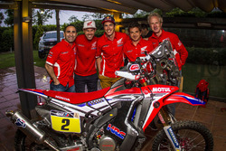 Joan Barreda, Paulo Goncalves and Michael Metge, Honda
