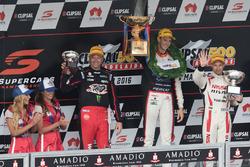 Podium: winner Nick Percat, Lucas Dumbrell Motorsport Holden, second place Michael Caruso, Nissan Motorsports, third place Garth Tander, Holden Racing Team