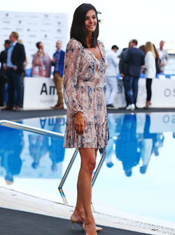 Karen Minier, wife of David Coulthard, Red Bull Racing and Scuderia Toro Advisor / Channel 4 F1 Commentator, at the Amber Lounge Fashion Show