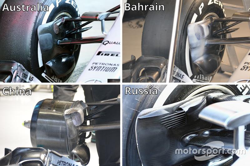 Mercedes AMG F1 Team W07 brake duct
