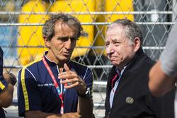 Alain Prost with Jean Todt, FIA President