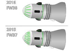 Williams FW37 and FW38 axle comparison