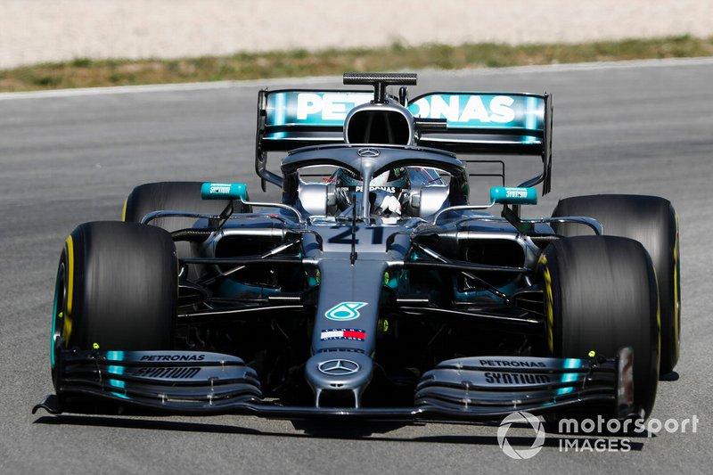 Nikita Mazepin, Mercedes AMG F1, Barcelona testing