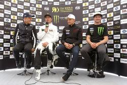 Press Conference: Mattias Ekström, EKS RX; Petter Solberg, Petter Solberg World RX Team; Janis Baumanis, World RX Team Austria; Andreas Bakkerud, Hoonigan Racing Division