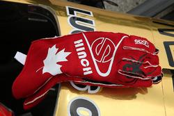 Gloves of James Hinchcliffe, Schmidt Peterson Motorsports Honda