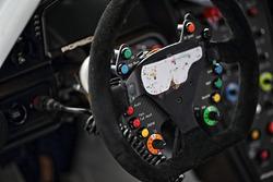 #33 Excellence Porsche Team KTR Porsche 911 GT3-R steering wheel detail