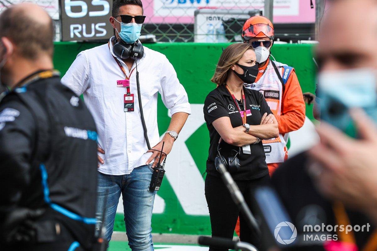 Claire Williams, Subdirectora del equipo, Williams Racing, en la parrilla
