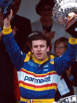 Podium: race winner Olivier Panis, Ligier