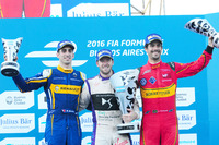Formula E Photos - Podium: Winner Sam Bird, DS Virgin Racing Formula E Team; second place Sébastien Buemi, Renault e.Dams, thrid place Lucas di Grassi, ABT Schaeffler Audi Sport