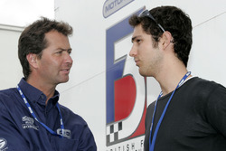 Trevor Carlin with Bruno Senna, Carlin