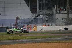 #128 Gohm Motorsport Ferrari 458 Challenge Evo: Christian Kinch crash