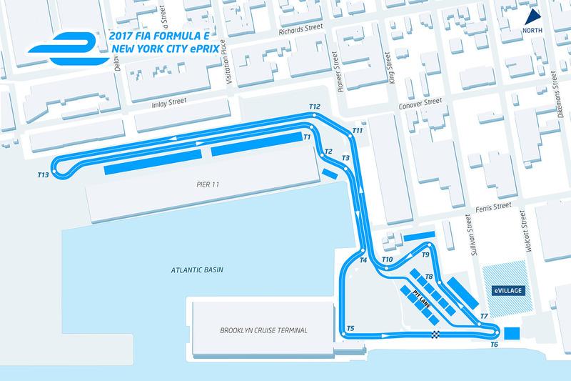 New York ePrix track layout