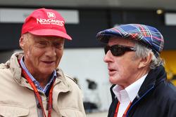 (L to R): Niki Lauda, Mercedes Non-Executive Chairman with Jackie Stewart