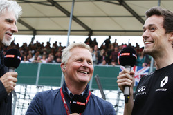 (L to R): Damon Hill, Sky Sports Presenter with Johnny Herbert, Sky Sports F1 Presenter and Jolyon Palmer, Renault Sport F1 Team