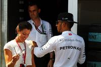 Formula 1 Photos - Lewis Hamilton, Mercedes AMG F1 with Nora Zetsche