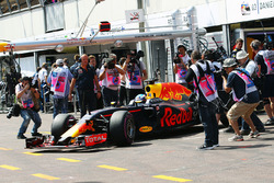Max Verstappen, Red Bull Racing RB12 leaves the pits