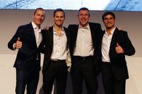 DTM Photos - Maxime Martin; Tom Blomqvist; Bart Mampaey Team Principal BMW RBM and Bruno Spengler