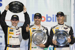 Overall podium: third place Joao Barbosa, Christian Fittipaldi, Filipe Albuquerque, Action Express