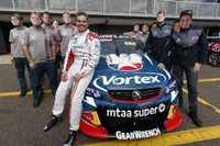 Supercars Photos - Craig Lowndes, Triple Eight Race Engineering Holden celebrates his 600th Supercars race with his  team