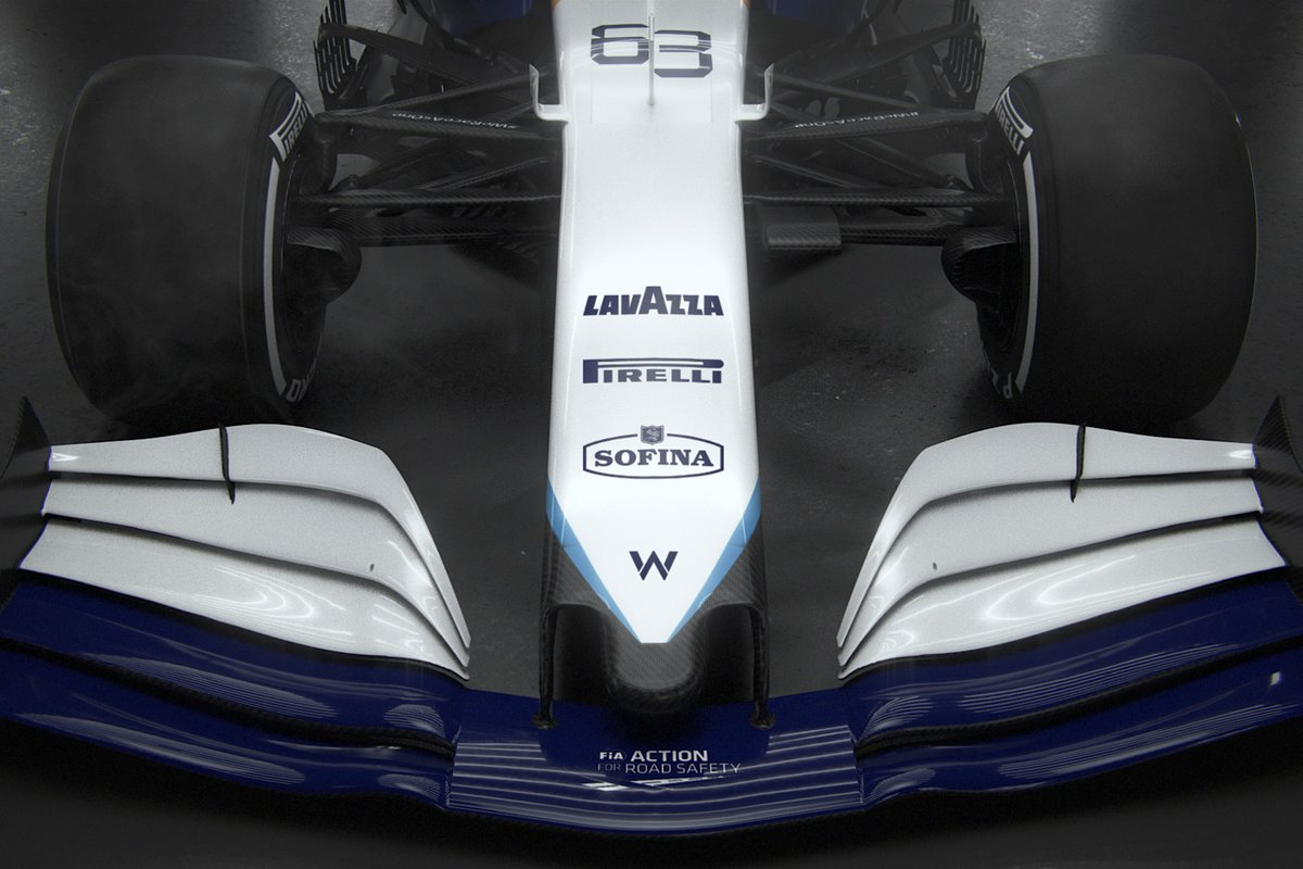 Detalle del Williams FW43B.