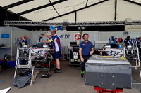 Formula E Photos - Pits of Amlin Andretti Formula E Team