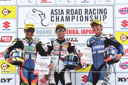 Podium: Winner Yuki Takahashi, second place Tomoyoshi Koyama, third place Yuki Ito