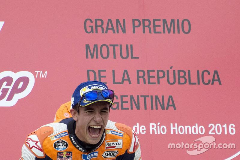 Podium: winner Marc Marquez, Repsol Honda Team