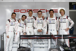Porsche Team: Romain Dumas, Neel Jani, Timo Bernhard, Marc Lieb, Mark Webber, Brendon Hartley