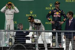 Podium: race winner Lewis Hamilton, Mercedes AMG F1, second place Nico Rosberg, Mercedes AMG F1, third place Daniel Ricciardo, Red Bull Racing